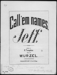Call 'em names, Jeff [sheet music]