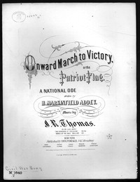 Onward march to victory, or The Patriot flag [sheet music]
