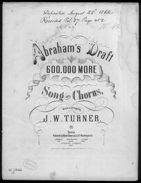 Abraham's draft [sheet music]
