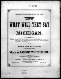 What will they say in Michigan [sheet music]