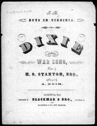 Dixie war song [sheet music]