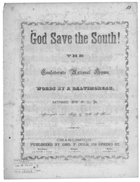God save the south [sheet music]