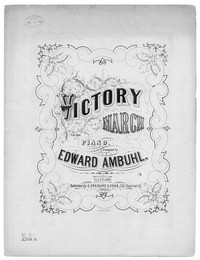 Victory march [sheet music]