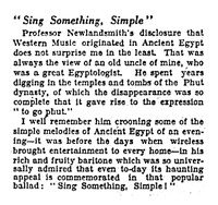 The Way of the World: Sing Something, Simple [clipping]