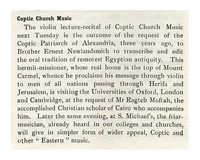Coptic Church Music [clipping]