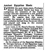 Ancient Egyptian Music [clipping]