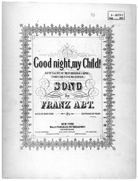 Good night, my child! [sheet music]