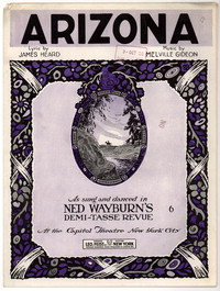 Arizona [sheet music]