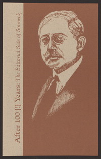 After 100 [!] years the editorial side of Sonneck : a lecture : in memoriam, Oscar George Theodore Sonneck, 1873-1928. [print]
