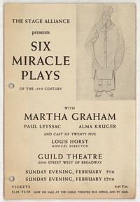 Advertisement for Six Miracle Plays