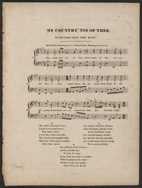 My country! 'Tis of thee [sheet music]