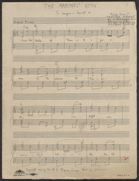 Marine's hymn [sheet music]