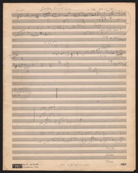 Sketches for Sonata for fl., ob., 'cello, harps [manuscript sketch]