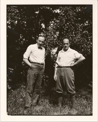 Carl Engel, chief of the Music Division, Library of Congress, and Ernest Bloch in Peterborough, New Hampshire [photograph]