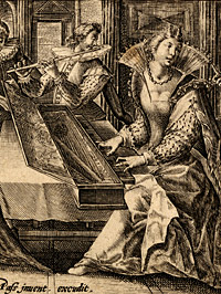 Detail from A Company Making Music by Crispin de Passe I, le vieux, late 16th – early 17th century