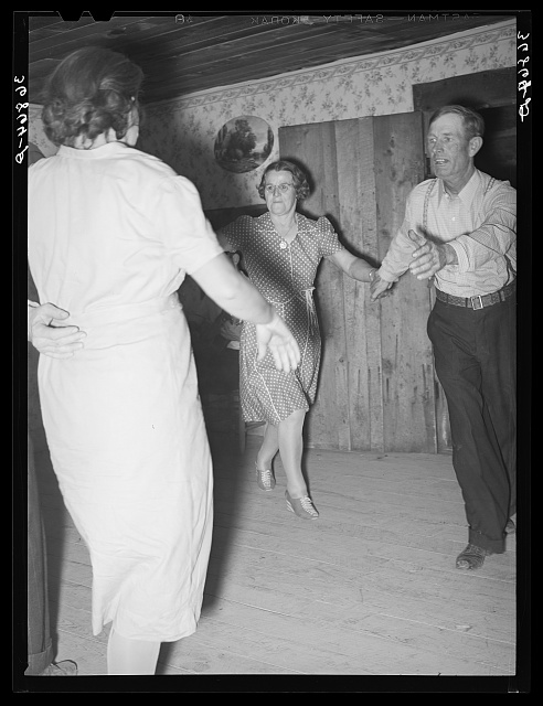 Square dancers in New Mexico during The Great Depression