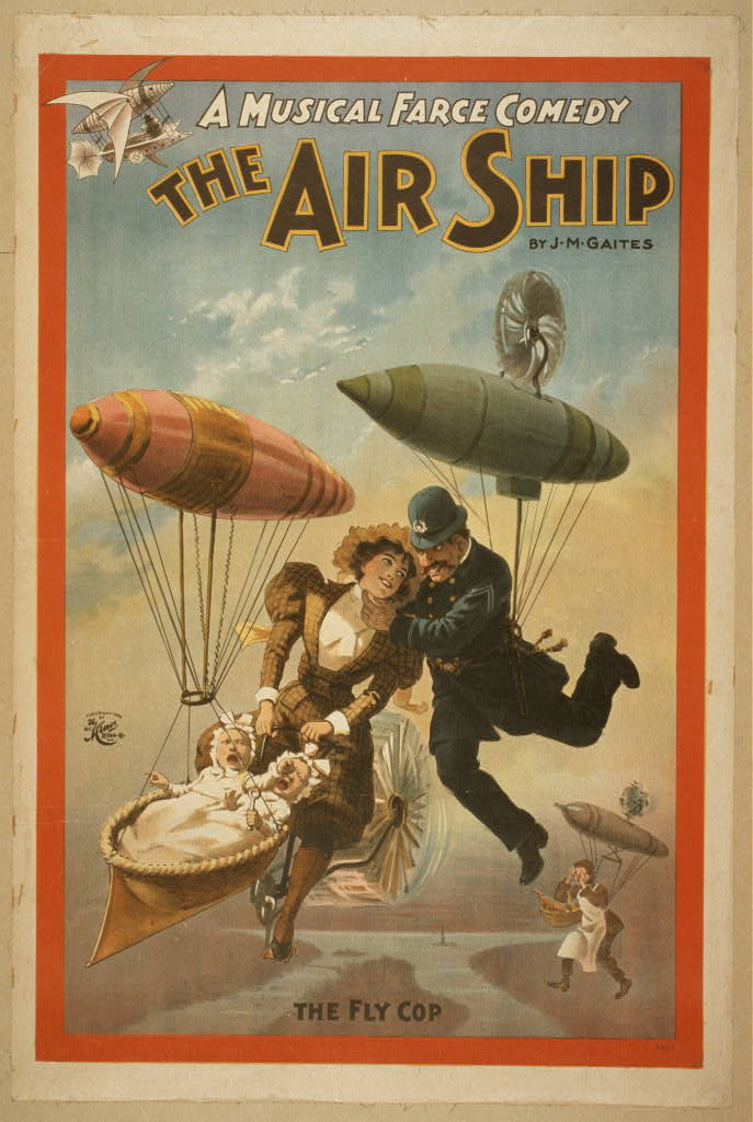 The steampunk home the air ship a musical farce comedy for Farcical comedy plays