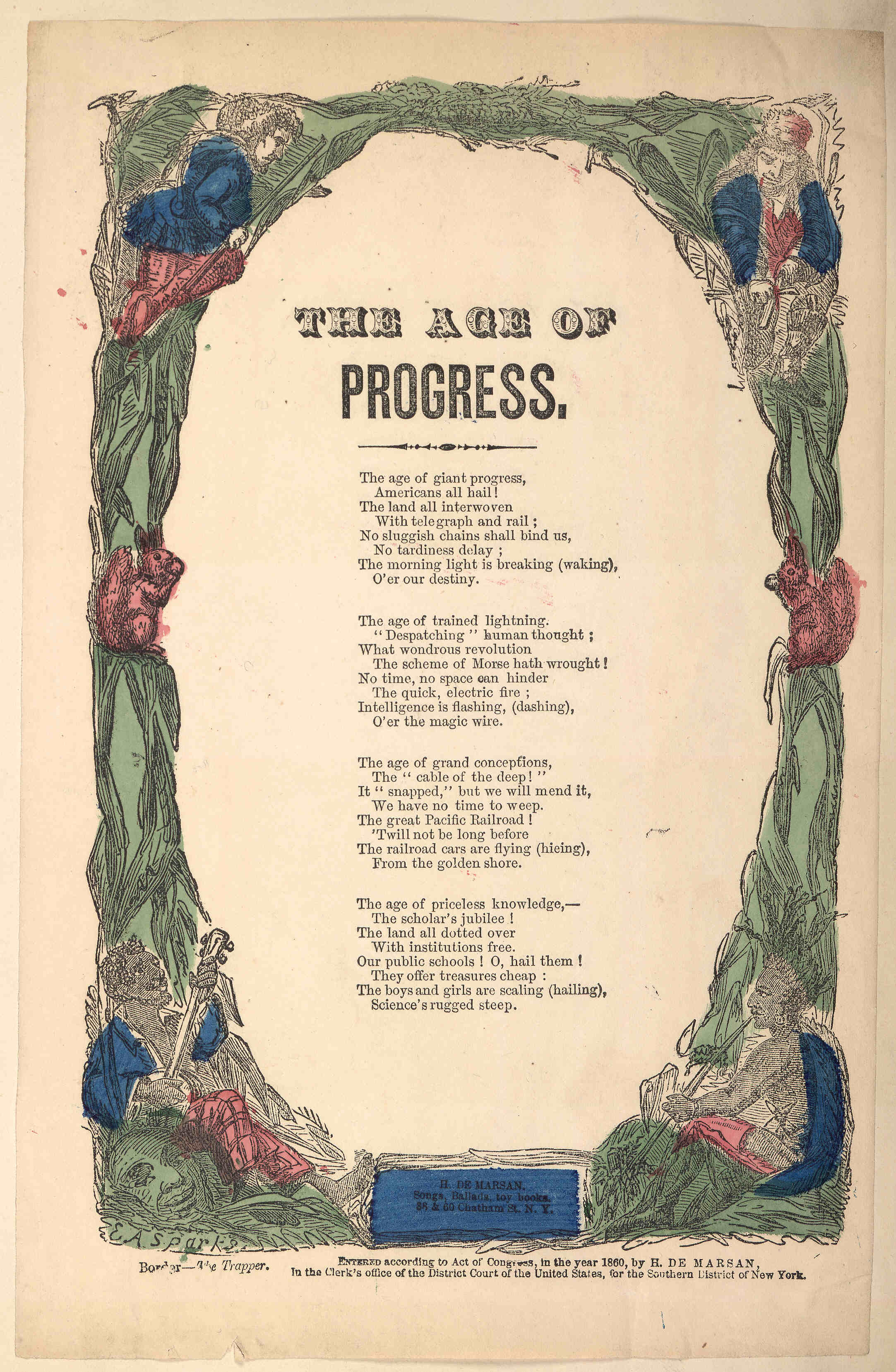 The Age of Progress, Poem.  From the Library of Congress.