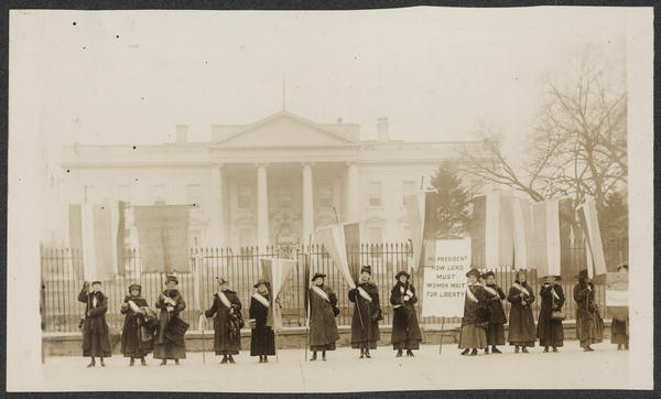 suffragettes protesting