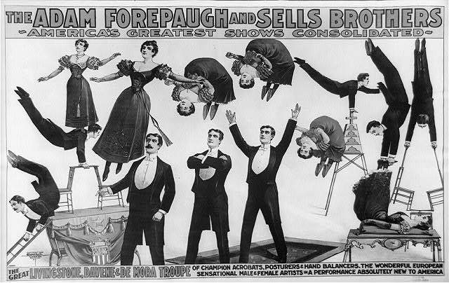 Adam Forepaugh & Sells Bros. Circus, circa 1898
