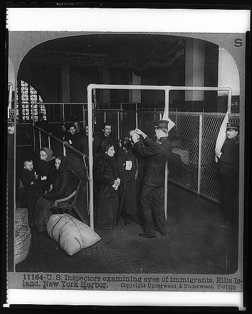 Picture 4:  Immigrants Being Inspected at Ellis Island