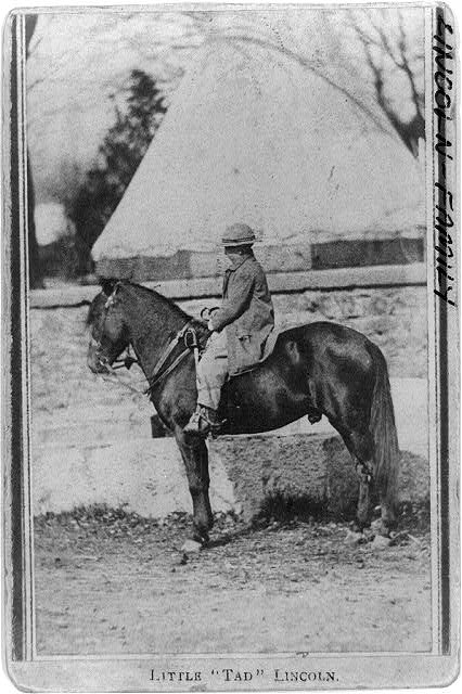 Thomas Tad Lincoln and his horse, Courtesy Library of Congress