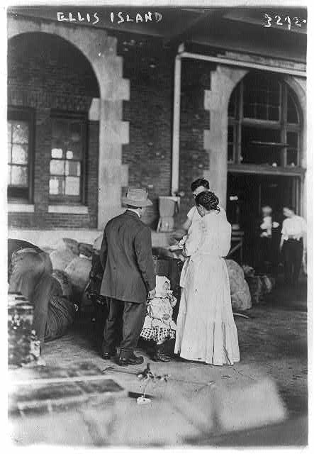 Picture 3:  An Immigrant Family At Ellis Island