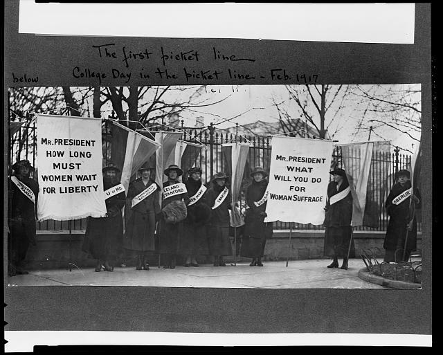 The first picket line - College day in the picket line line. Library of Congress Manuscript Division Washington, D.C. 20540 USA