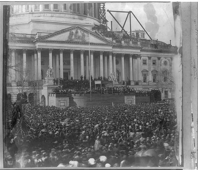 Inauguration of Mr. Lincoln, 4 March 1861.