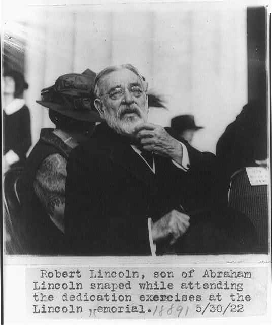 Robert Todd Lincoln At Lincoln Memorial