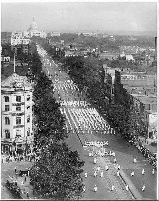 Ku Klux Klan parade