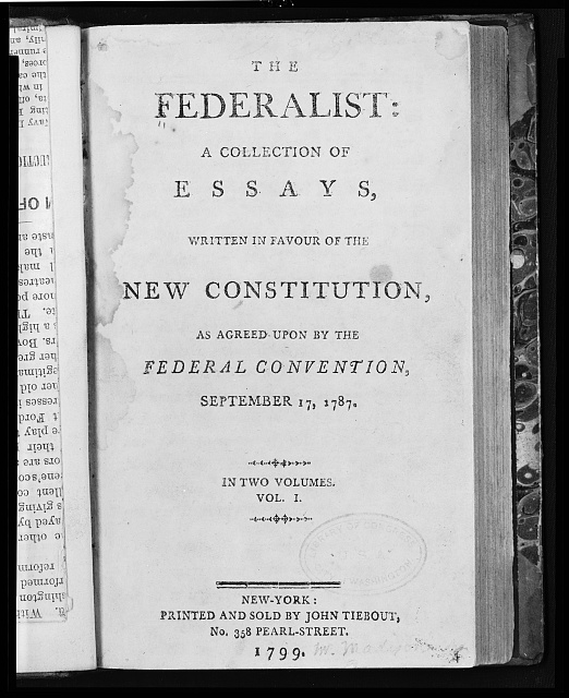 magna carta cornerstone of the u s constitution edsitement  federalist arguing for ratification of the constitution