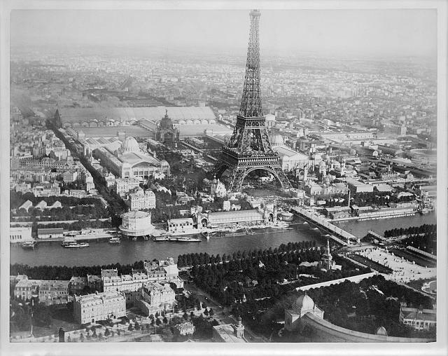 paris france black and white. Aerial view of Paris, France,