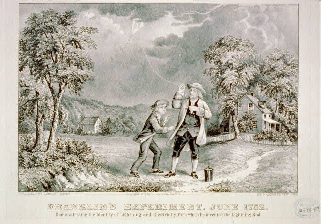 Franklin's experiment, June 1752
