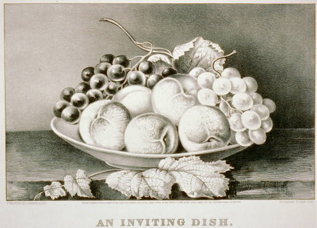 Public Domain Clip Art: Currier & Ives Fruit Bowl Still Life