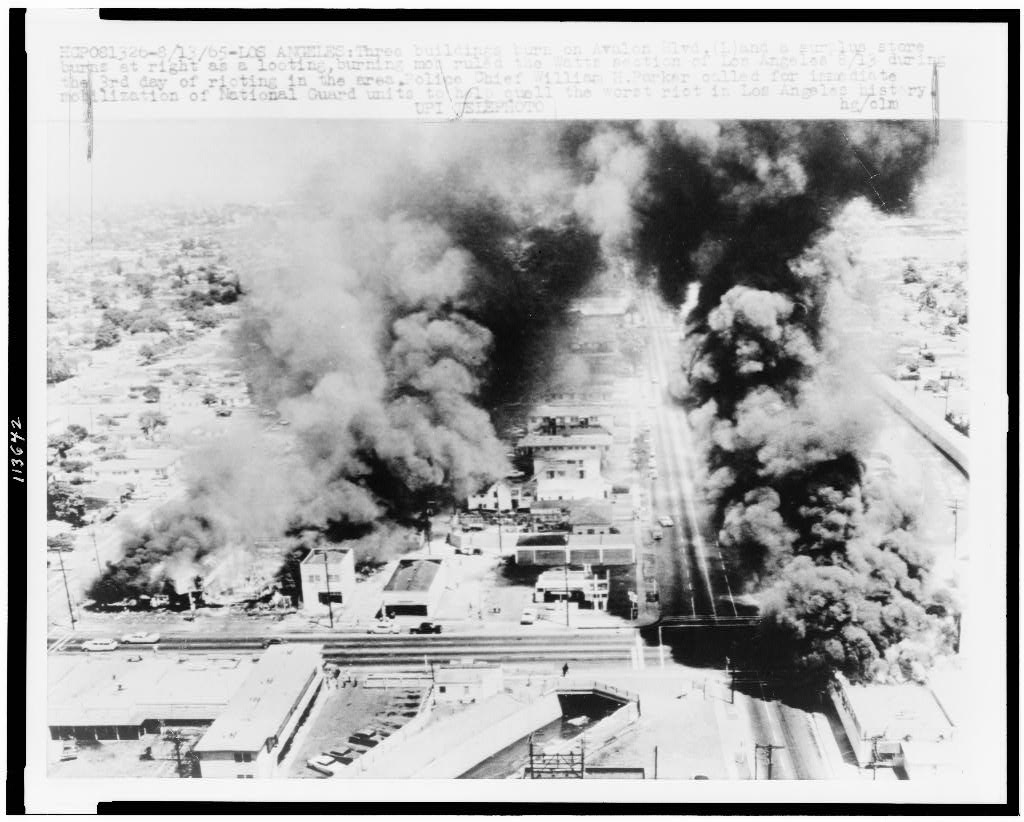 civil rights movement black power era the violence in watts revealed frustrations brewing in black