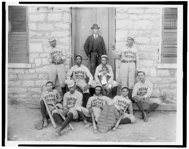 African American baseball players of Morris Brown College