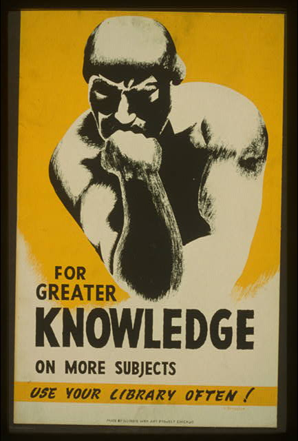 'For greater knowledge on more subjects use your library often!' - click on the link for an enlargement