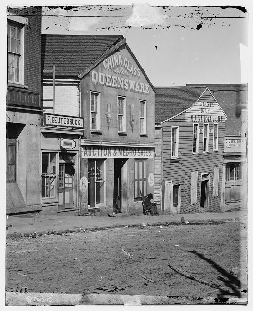 Slave Sales and Auction on Whitehall Street in Atlanta, from LOC American Memory Collection