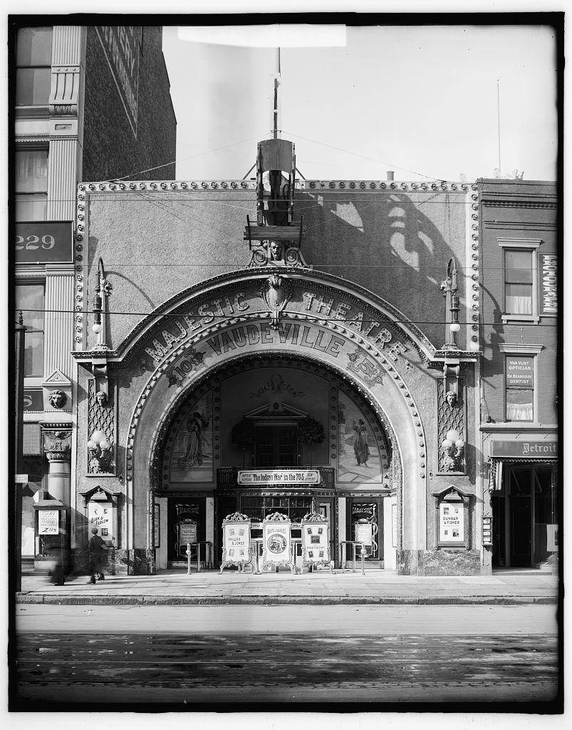 The Majestic Theatre In Detroit Michigan As It