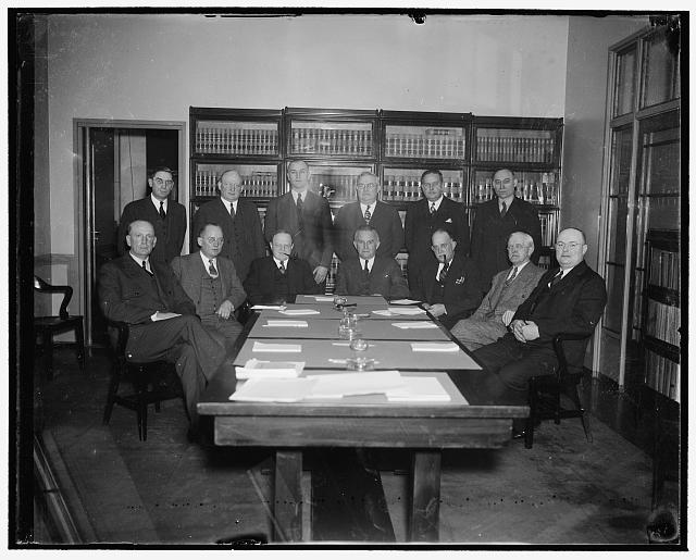 National Mediation Board.  1937 or '38.  Library of Congress.  Harris & Ewiing, photographer.