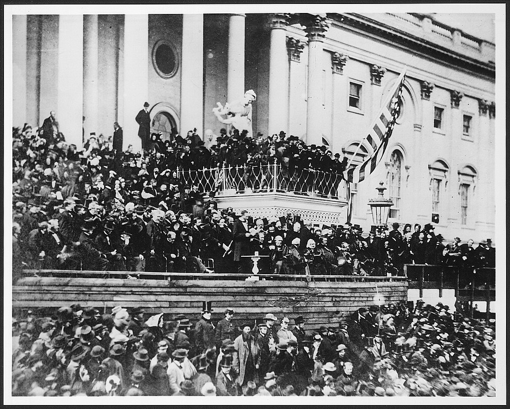 Lincoln's second inaugural, March 4, 1865.