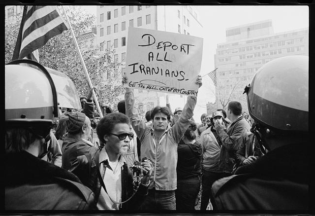 Iran hostage crisis student demonstration, Washington, D.C.