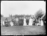(Lew) (Lou) (L.N.) Beager and wife's wedding, north of West Union, near Cummings Park, Custer County, Nebraska.
