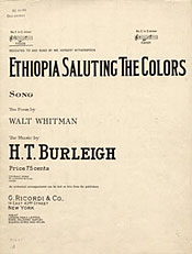 Ethiopia Saluting the Colors