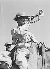 Image: Bugler of G Troop of the 10th Cavalry Brigade
