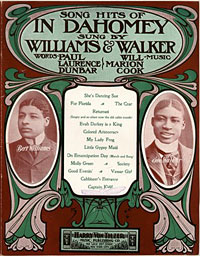 Song hits of In Dahomey sung by William and Walker