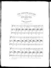 The  convict's lullaby