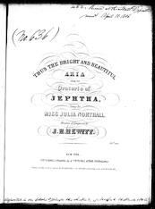 Thus the bright and beautiful aria [from] the oratorio Jeptha