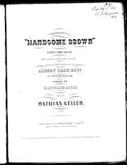 Handsome Brown, a serio comic ballad